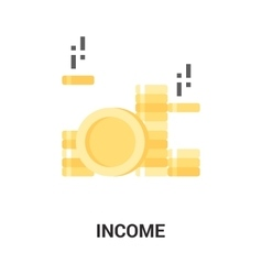 income icon concept vector image