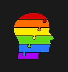 infographics lgbt silhouette head puzzle symbol vector image