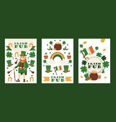 irish pub banners st vector image