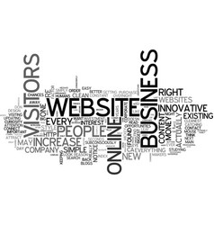 Is your website innovative increase your business vector