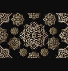 islamic seamless ornament persian motiff vector image