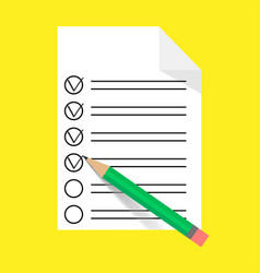 list on a piece paper vector image