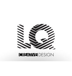 lq l q lines letter design with creative elegant vector image