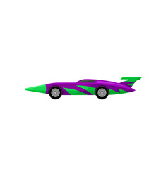 old racing car with tinted windows and spoiler vector image