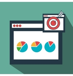 page web internet target vector image