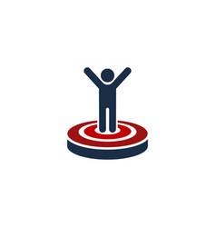 people target logo icon design vector image