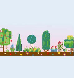 pixelated nature scenery vector image
