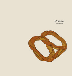 pretzel bakery hand draw sketch vector image