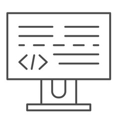 programming thin line icon development vector image