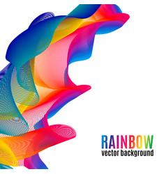 Rainbow lines backgroun vector