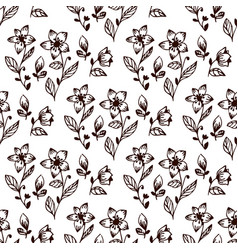 seamless flower and leaves vector image