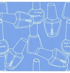 Seamless pattern with nail polish vector