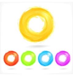 Set business abstract circle icons corporate vector
