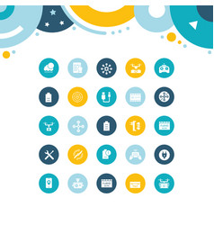Set simple icons drone vector