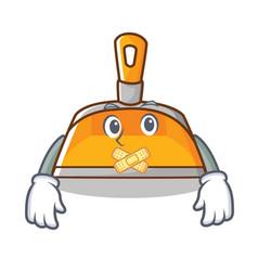 Silent dustpan character cartoon style vector