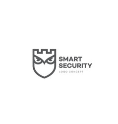 smart security logo vector image
