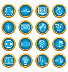soccer football icons set simple style vector image