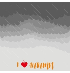 Stormy autumn sky with rain vector image