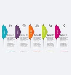 Timeline Infographic Design Templates vector