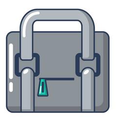 travel bag retro icon cartoon style vector image