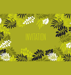 tropical leaves monochrome pattern vector image