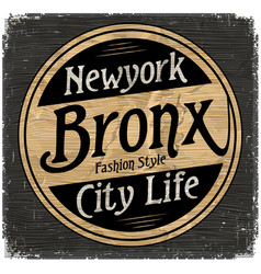 vintage new york brooklyn typography t-shirt vector image