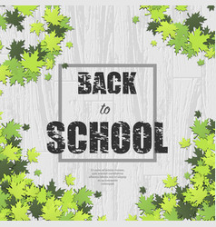 white wooden school background vector image