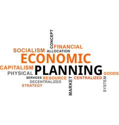 Word cloud - economic planning vector