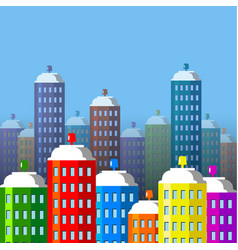 city buildings of spray paint vector image vector image