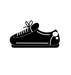Contour sneaker to practice exercise and train vector