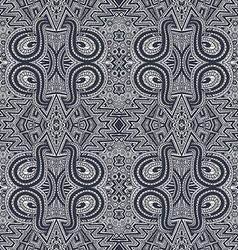 gray hand drawn psychedelic zentangle pattern vector image vector image
