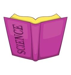 Science book icon cartoon style vector image