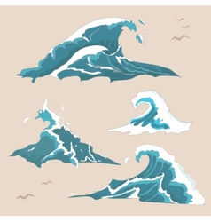 Wave ocean Collection vector image vector image