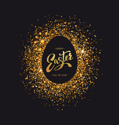 easter symbol on luxury black background vector image vector image