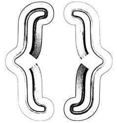 Grunge Font symbol vector image vector image
