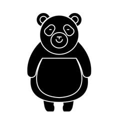 panda cute icon black sign vector image vector image
