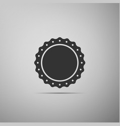 quality emblem flat icon on grey background vector image vector image