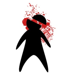 murder symbol vector image vector image