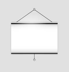 Projector screen vector image vector image