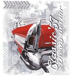 vintage car 57 vector image