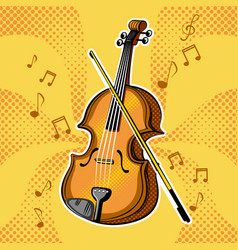 violin musical instrument vector image vector image