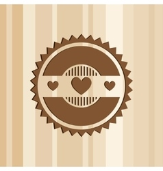 Abstract logo template with heart vector image vector image