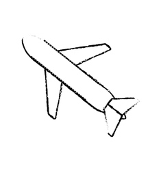 airplane travel business vacation sketch vector image