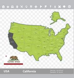 california flag and map vector image vector image