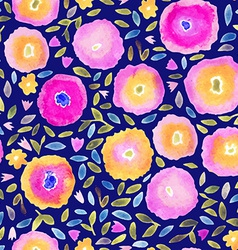 Hand paint watercolor floral seamless pattern vector image vector image