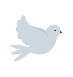 Isolated dove bird design vector image vector image