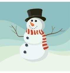 Snowman icon flat helper Snowman icon face vector image vector image