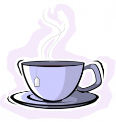teacup with saucer vector image vector image