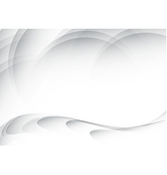 white waves abstract background vector image