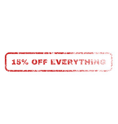 15 percent off everything rubber stamp vector image
